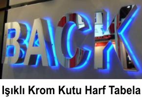Bursa Işıklı Krom Kutu Harf Tabela