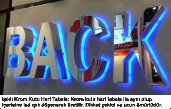 Işıklı Krom Kutu Harf Tabela Bursa